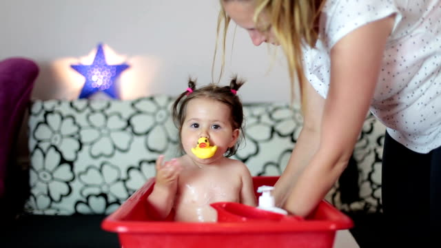 mother is soap her baby girl video