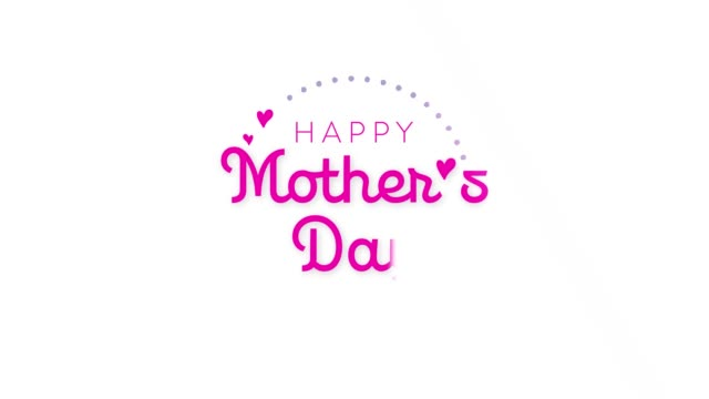 mother's day greeting in motion graphic design - mothers day stock videos & royalty-free footage