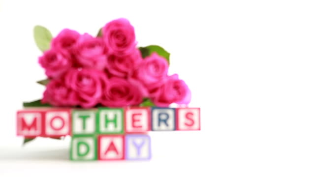 mothers day message with roses - mothers day stock videos & royalty-free footage