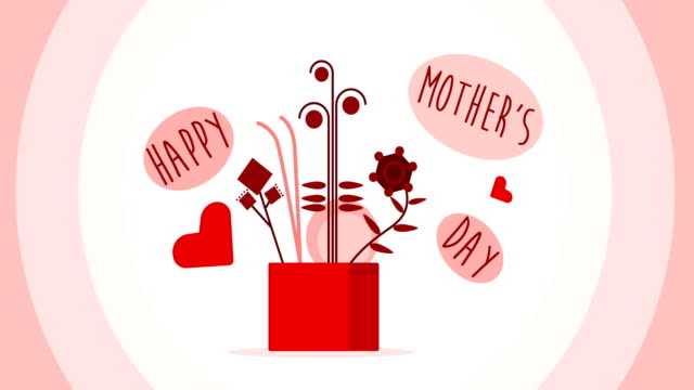 Mother's Day Mother's Day motion graphics mothers day stock videos & royalty-free footage
