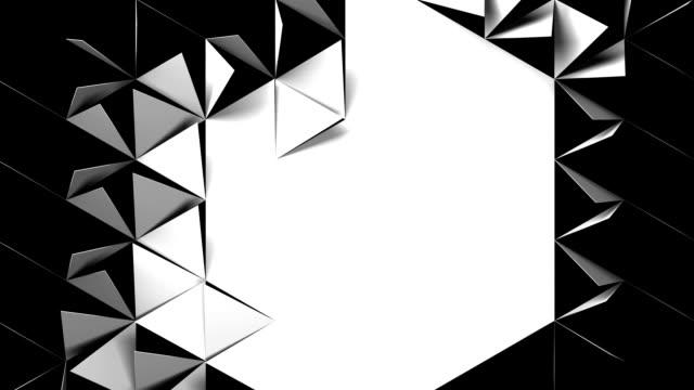Motion animation of geometric elements of triangular shape HD 1080