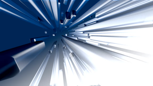 Motion Blue background, 3d block ,HD video