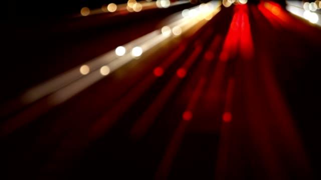 Motion blurred Night Highway Traffic. video