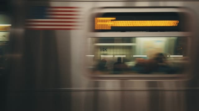 Motion Blurred Subway Manhattan, New York, USA underground stock videos & royalty-free footage