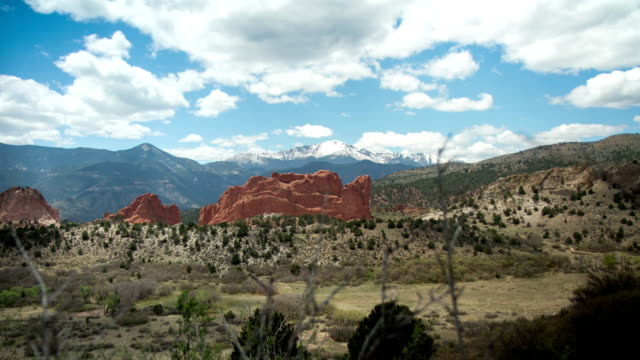 Motion Controlled Timelapse Pikes Peak behind Garden of the Gods