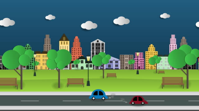 Motion graphic business center and historic skyscrapers with road highway avenue transport street traffic. Motion graphic  city and business center and historic skyscrapers with road highway avenue transport street traffic. office illustrations videos stock videos & royalty-free footage
