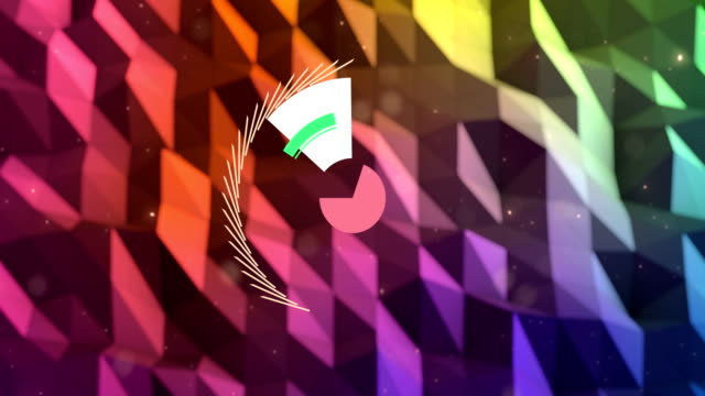 Motion graphic circle animation