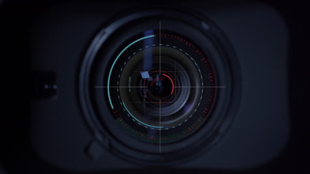 Motion Graphic focus the lens at the camera professional video camera Video camera Movie level, The zoom lens is working, Motion Graphic. password stock videos & royalty-free footage