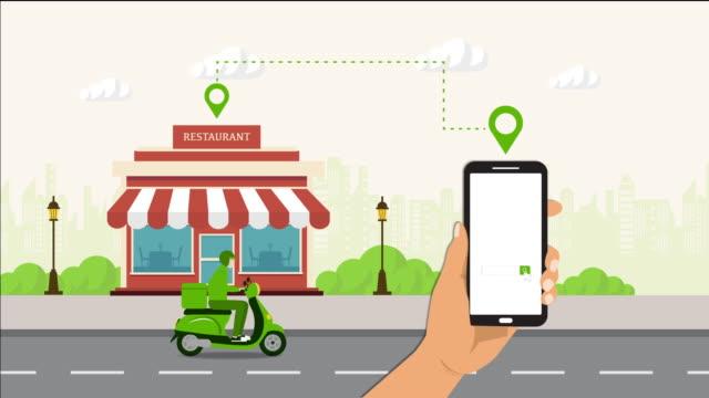 vidéos et rushes de motion graphic shopping concept en ligne sur le site web ou le téléphone. - main service