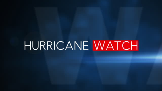 """""""HURRICANE WATCH"""" 3D Motion Graphic (Blue Background) For more NEWS graphics like this, check out our other clips below or visit http://www.istockphoto.com/portfolio/TannerLeiva environmental consciousness stock videos & royalty-free footage"""