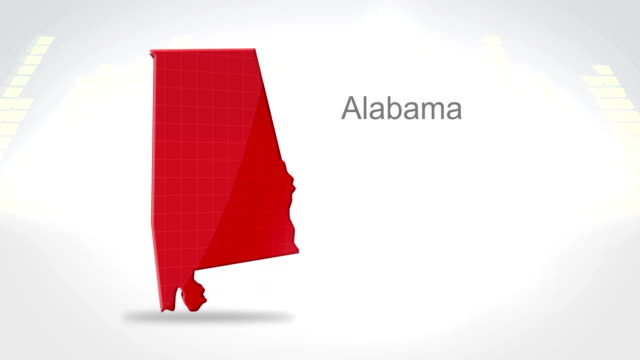 Motion Graphics 3D animation of the american state of Alabama video