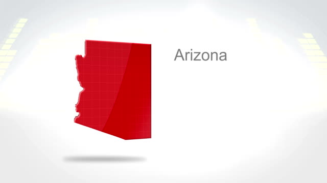 Motion Graphics 3D animation of the american state of Arizona video