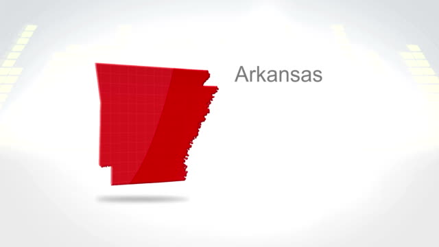 Motion Graphics 3D animation of the american state of Arkansas video