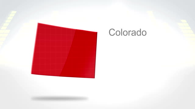 Motion Graphics 3D animation of the american state of Colorado video