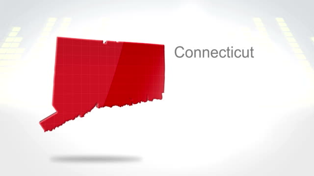 Motion Graphics 3D animation of the american state of Connecticut video