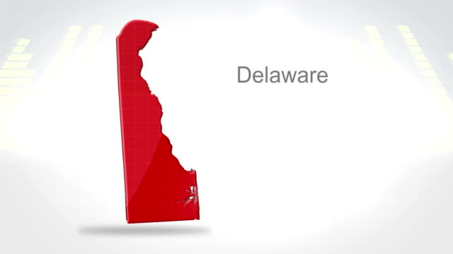 Motion Graphics 3D animation of the american state of Delaware video