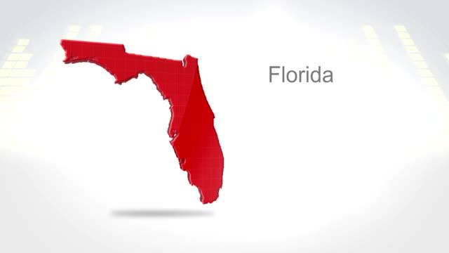 Motion Graphics 3D animation of the american state of Florida Motion Graphics 3D animation of the american state of Florida florida us state stock videos & royalty-free footage