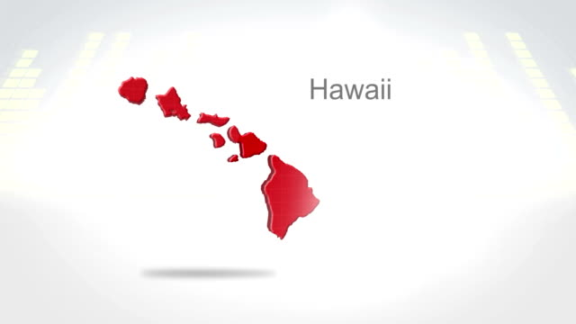 Motion Graphics 3D animation of the american state of Hawaii video
