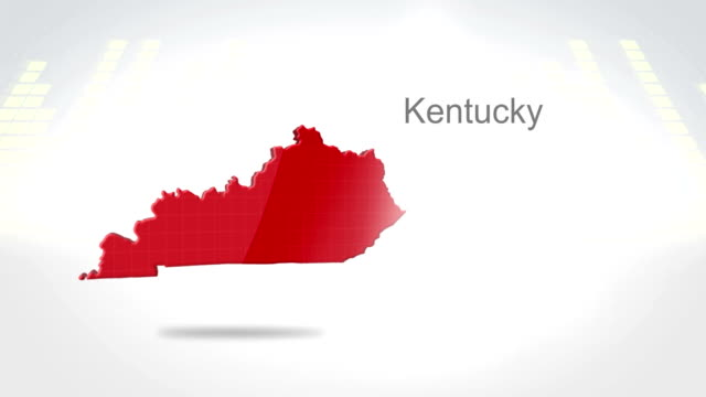 Motion Graphics 3D animation of the american state of Kentucky video