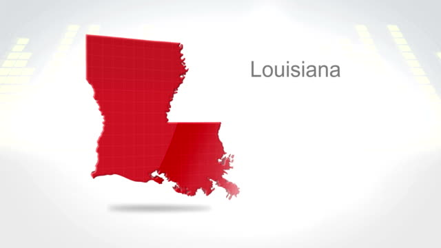 Motion Graphics 3D animation of the american state of Louisiana video
