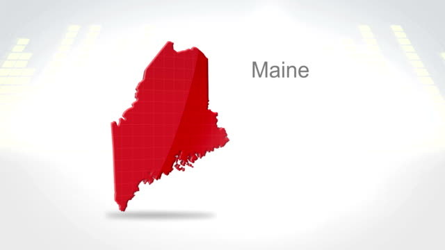 Motion Graphics 3D animation of the american state of Maine video