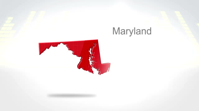 Motion Graphics 3D animation of the american state of Maryland video