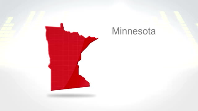 Motion Graphics 3D animation of the american state of Minnesota video