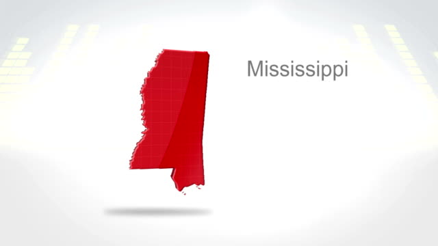 Motion Graphics 3D animation of the american state of Mississippi video