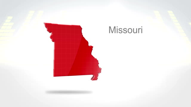 Motion Graphics 3D animation of the american state of Missouri video