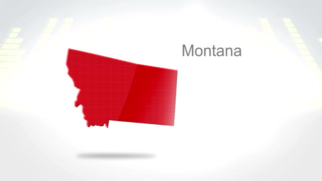 Motion Graphics 3D animation of the american state of Montana video
