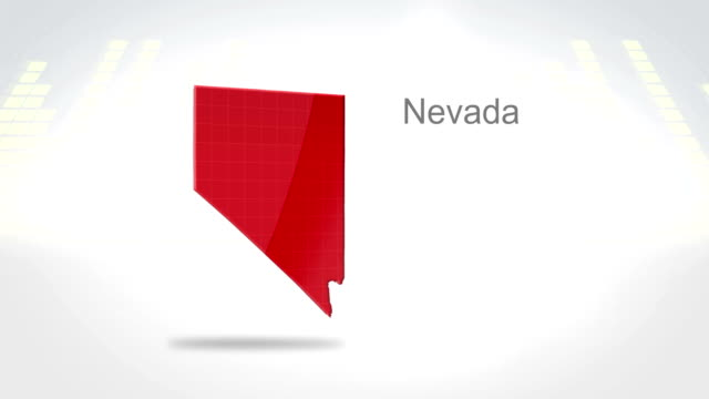 Motion Graphics 3D animation of the american state of Nevada video
