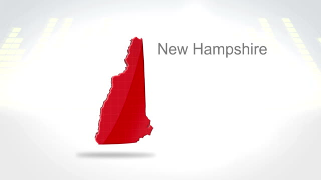 Motion Graphics 3D animation of the american state of New Hampshire video