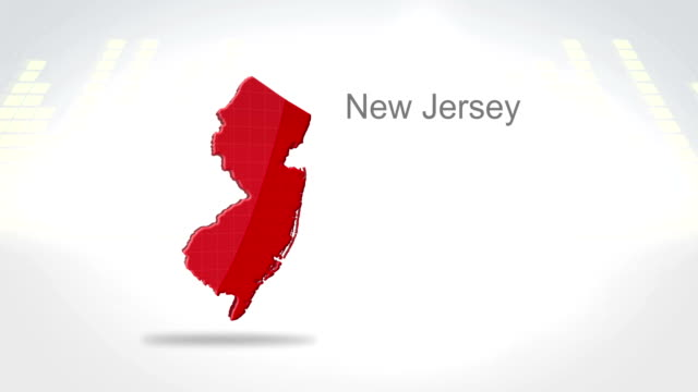 Motion Graphics 3D animation of the american state of New Jersey video