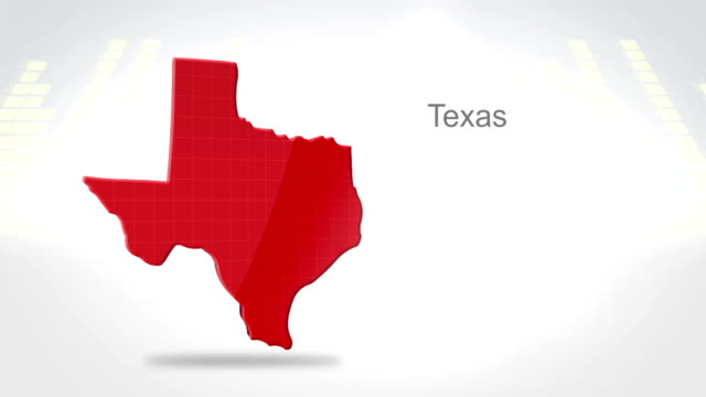 Motion Graphics 3D animation of the american state of Texas video