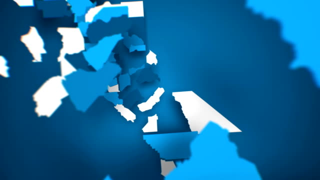 Motion Graphics Animated Map of California Forming - Blue Motion Graphics Animated Map of California Forming - Blue california map stock videos & royalty-free footage