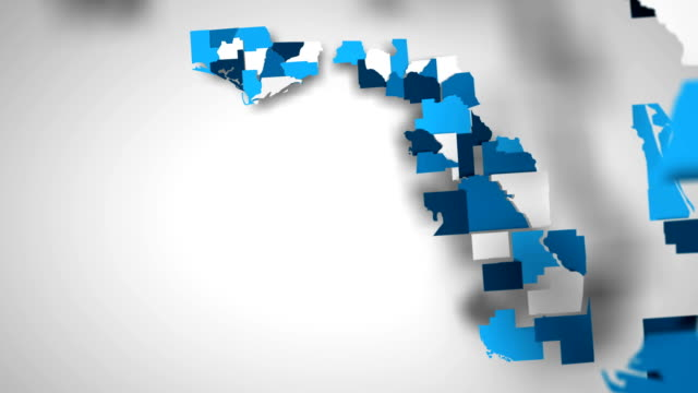 Motion Graphics Animated Map of Florida Forming - White Motion Graphics Animated Map of Florida Forming - White florida us state stock videos & royalty-free footage