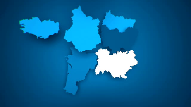 vidéos et rushes de motion graphics animated map of france forming - bleu - carte de france