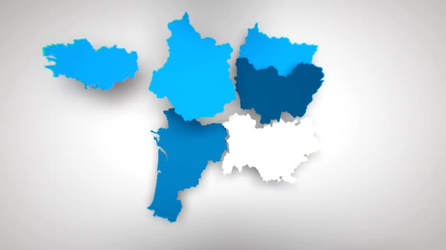 vidéos et rushes de motion graphics animated map of france forming - blanc - carte de france