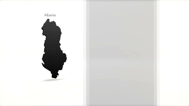 Motion Graphics Country information infographic background - Albania video