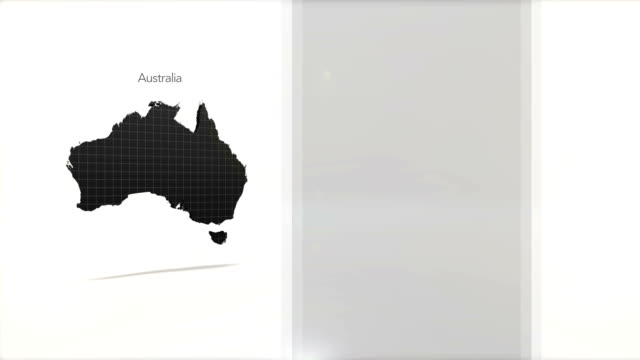Motion Graphics Country information infographic background - Australia video