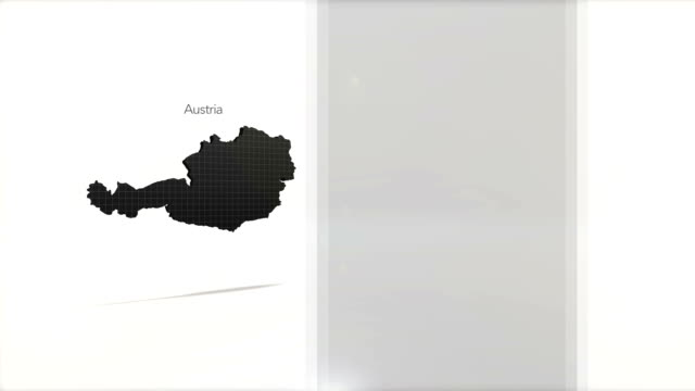 Motion Graphics Country information infographic background - Austria video
