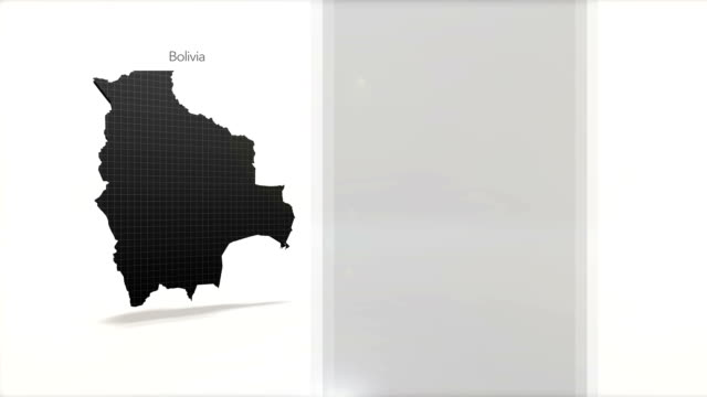 Motion Graphics Country information infographic background - Bolivia video