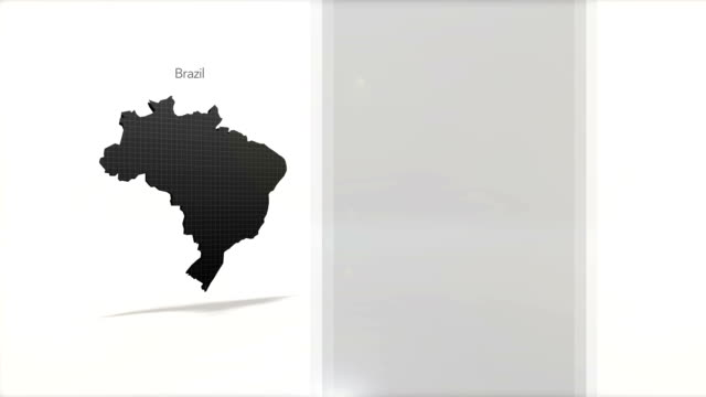 Motion Graphics Country information infographic background - Brazil video