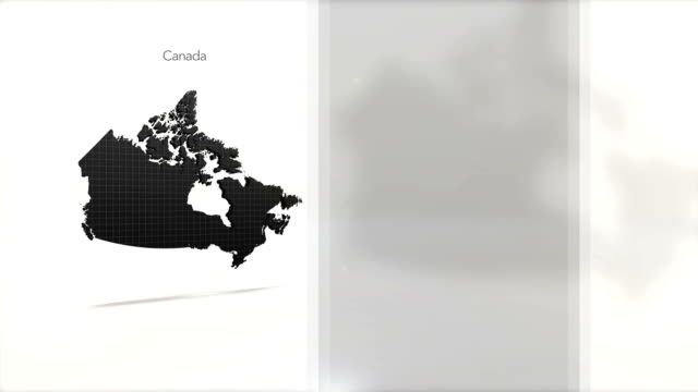 Motion Graphics Country information infographic background - Canada video
