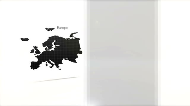 Motion Graphics Country information infographic background - Europe video