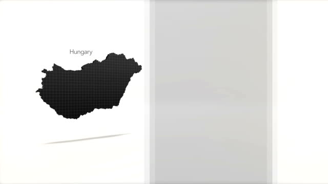 Motion Graphics Country information infographic background - Hungary video