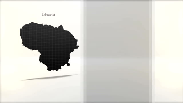 Motion Graphics Country information infographic background - Lithuania video