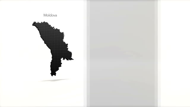 Motion Graphics Country information infographic background - Moldova video