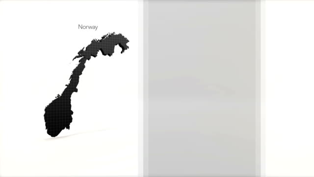 Motion Graphics Country information infographic background - Norway video