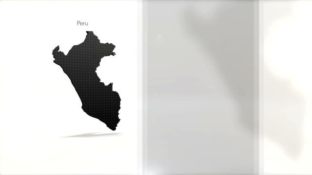 Motion Graphics Country information infographic background - Peru video